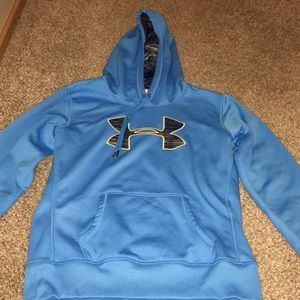 blue under armor sweatshirt!